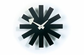 Asterisk WALL CLOCKS Noir
