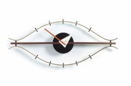 Eye WALL CLOCKS Laiton Noix