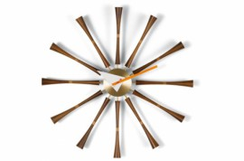 Spindle WALL CLOCKS Aluminium Noyer massif