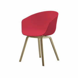 ABOUT A CHAIR 4 pieds Rouge corail