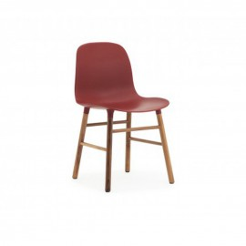FORM CHAIR noyer Rouge
