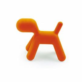 Chien abstrait large PUPPY Orange