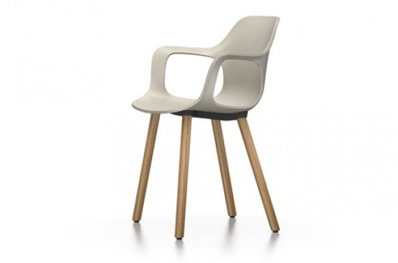 Chaise vitra fauteuil hal armchair wood ch ne naturel warmgrey for Fauteuil vitra prix