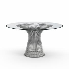 Grande Table ronde Platner Nickel poli