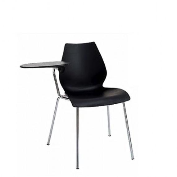 chaise kartell maui avec tablette anthracite. Black Bedroom Furniture Sets. Home Design Ideas