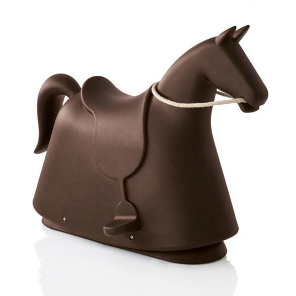 Accessoires cheval bascule rocky marron magis for Cheval a bascule exterieur