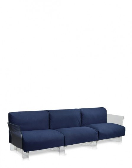 Kartell POP OUTDOOR 3 places Bleu