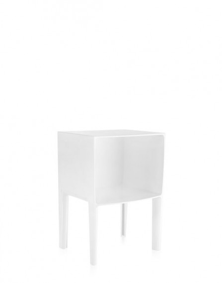 table de nuit small ghost buster blanc kartell. Black Bedroom Furniture Sets. Home Design Ideas
