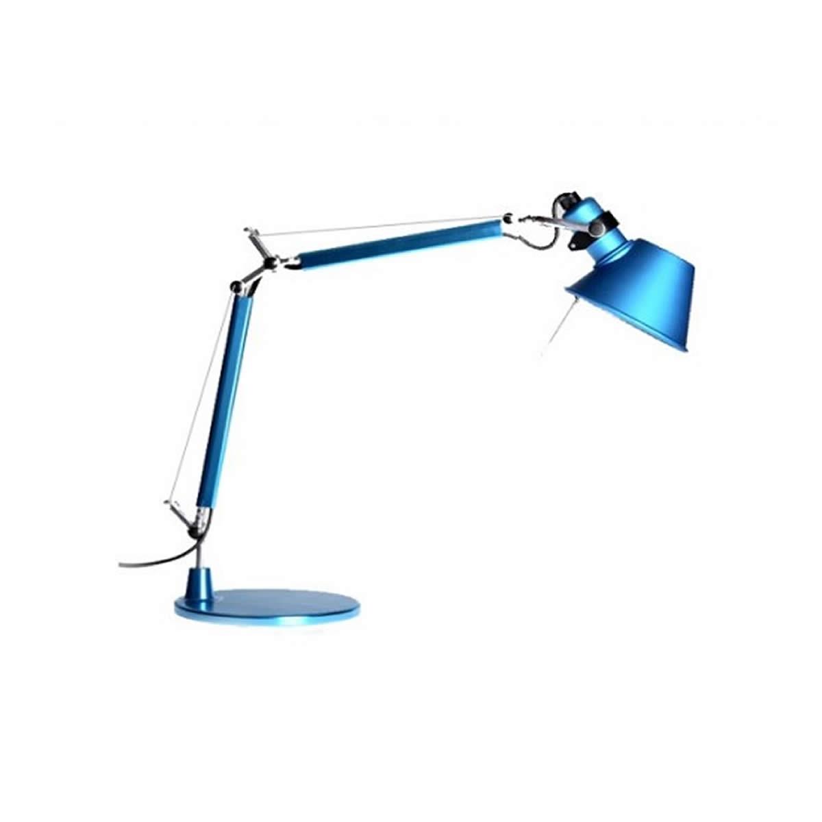 Poser À Bleu Anodisé Halogène Lampe Artemide Tolomeo Micro 3ARjL54q