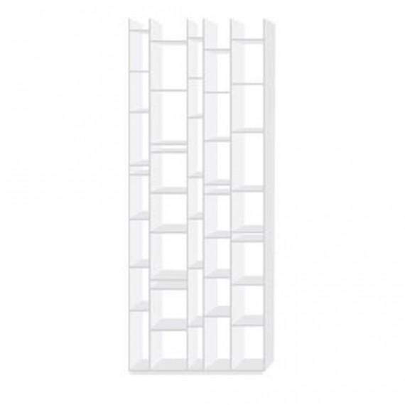 biblioth que mdf biblioth que random blanc laqu. Black Bedroom Furniture Sets. Home Design Ideas