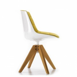 Chaise FLOW CHAIR chene VN rembourree