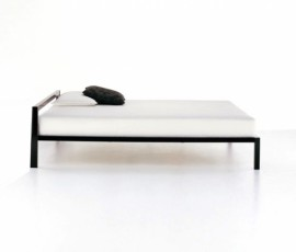 Lit ALUMINIUM BED laqué 150x210 MDF