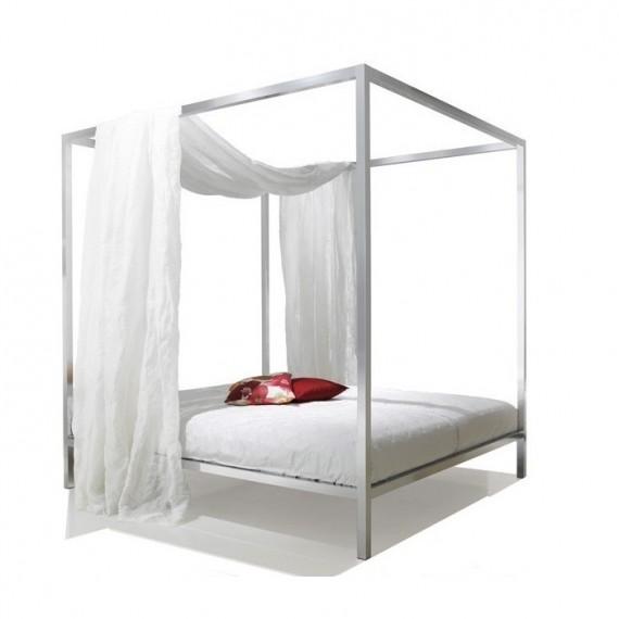 MDF Lit ALUMINIUM BED Baldaquin