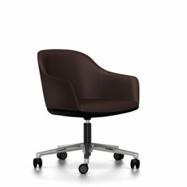 SOFTSHELL CHAIR Cuir poli Marron