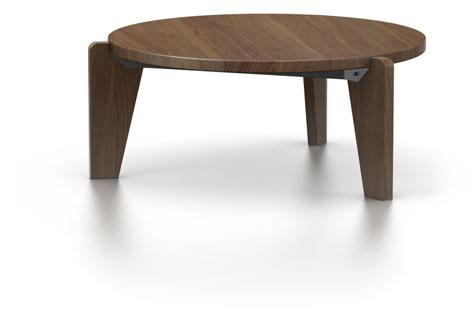 table basse vitra gueridon bas en noyer am ricain. Black Bedroom Furniture Sets. Home Design Ideas