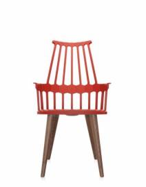 Chaise COMBACK 4 pieds Rouge orangé
