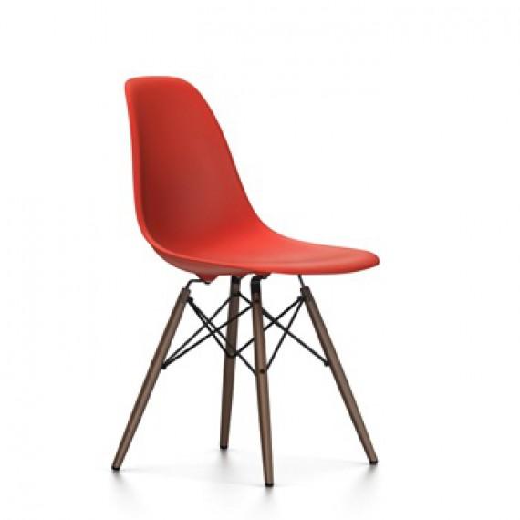 Vitra Chaise Eames DSW - rouge coquelicot pieds érable noir