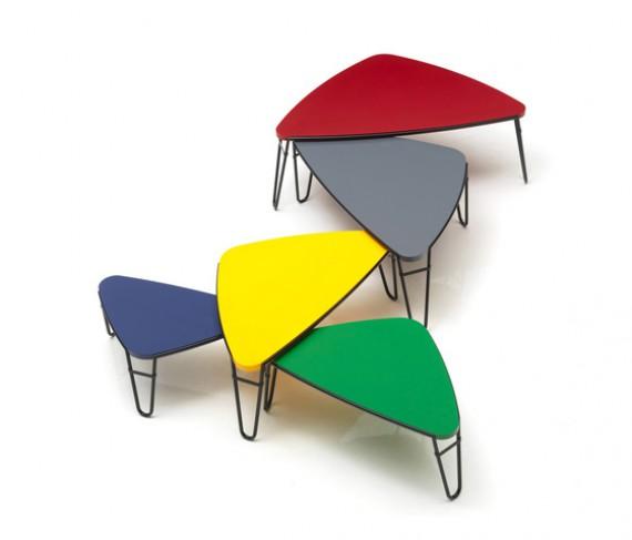 Laqué Cassina Petalo Basse Vert Table Tcu3K1lJF