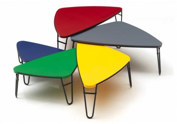 Table Basse Cassina Table Basse Petalo Laque Rouge