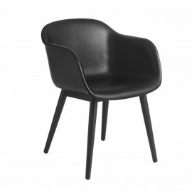 Fiber chair cuir Noir