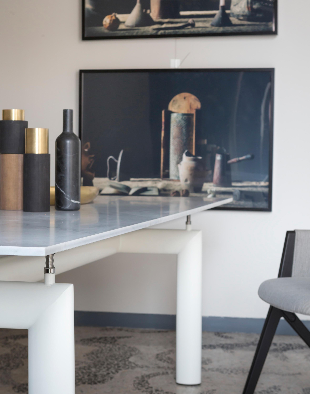 Table Cassina LC6 Le Corbusier cristal