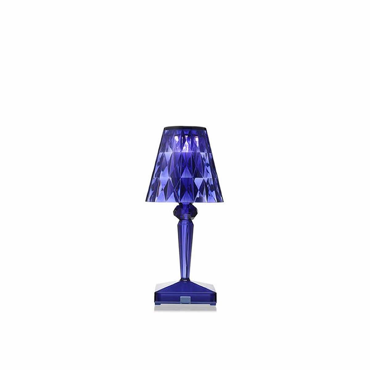 lampe poser kartell battery bleu. Black Bedroom Furniture Sets. Home Design Ideas
