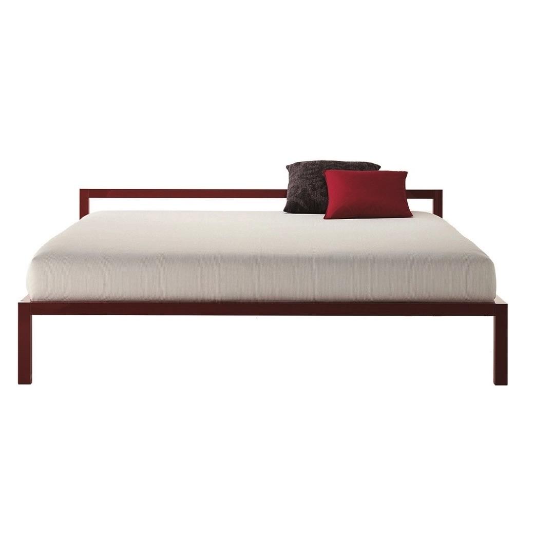 lit mdf lit aluminium bed laqu 190x210. Black Bedroom Furniture Sets. Home Design Ideas