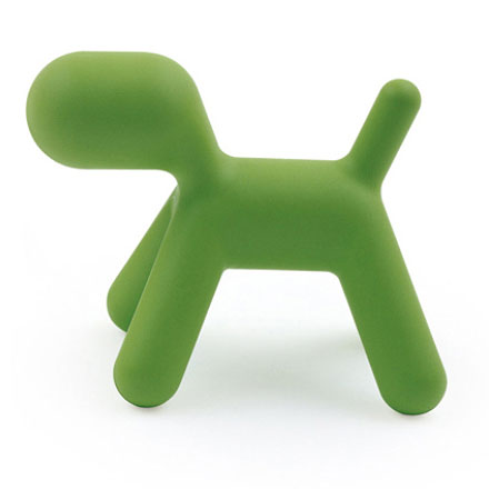 objet d coratif magis chien abstrait extra large puppy vert. Black Bedroom Furniture Sets. Home Design Ideas