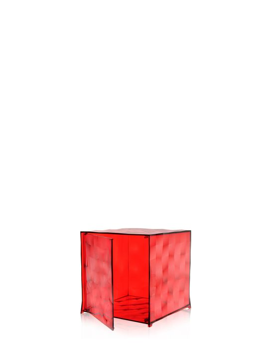 chevet kartell conteneur optic avec battant rouge. Black Bedroom Furniture Sets. Home Design Ideas