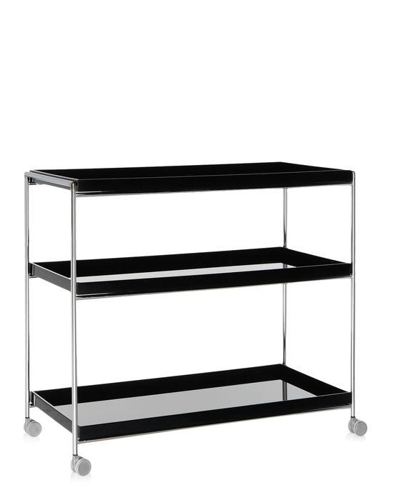 rangement kartell etag res roulettes trays noir. Black Bedroom Furniture Sets. Home Design Ideas