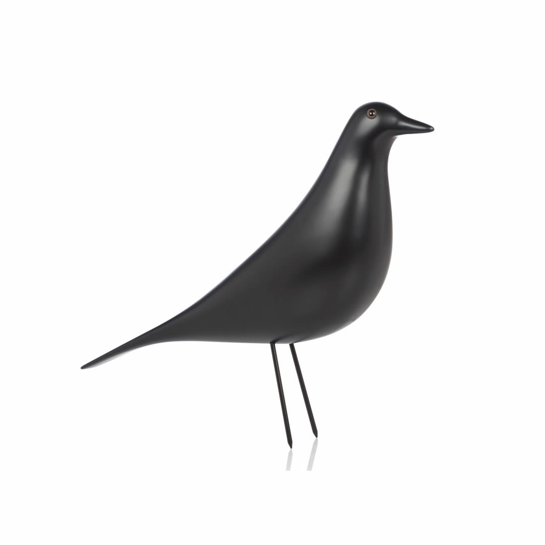 objet d coratif vitra oiseau d coratif eames house bird vernis noir. Black Bedroom Furniture Sets. Home Design Ideas