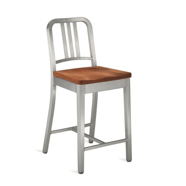 tabourets navy de comptoir assise bois bross emeco. Black Bedroom Furniture Sets. Home Design Ideas