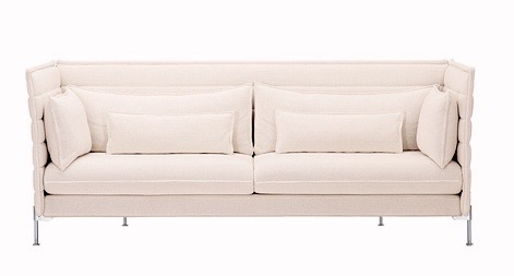 Canap s alcove sofa 3 places coussins vitra for Canape alcove bouroullec