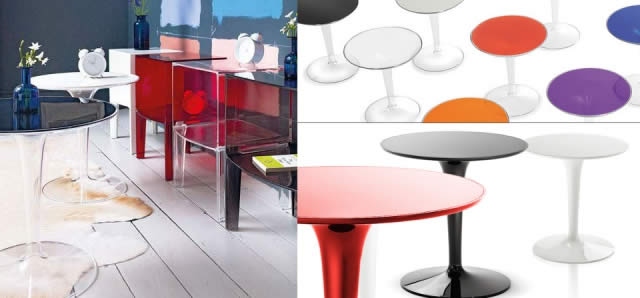 Kartell table basse tip top quartz design for Table exterieur kartell