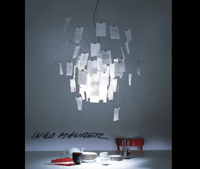 Ingo maurer suspension zettel quartz design for Suspension luminaire papier