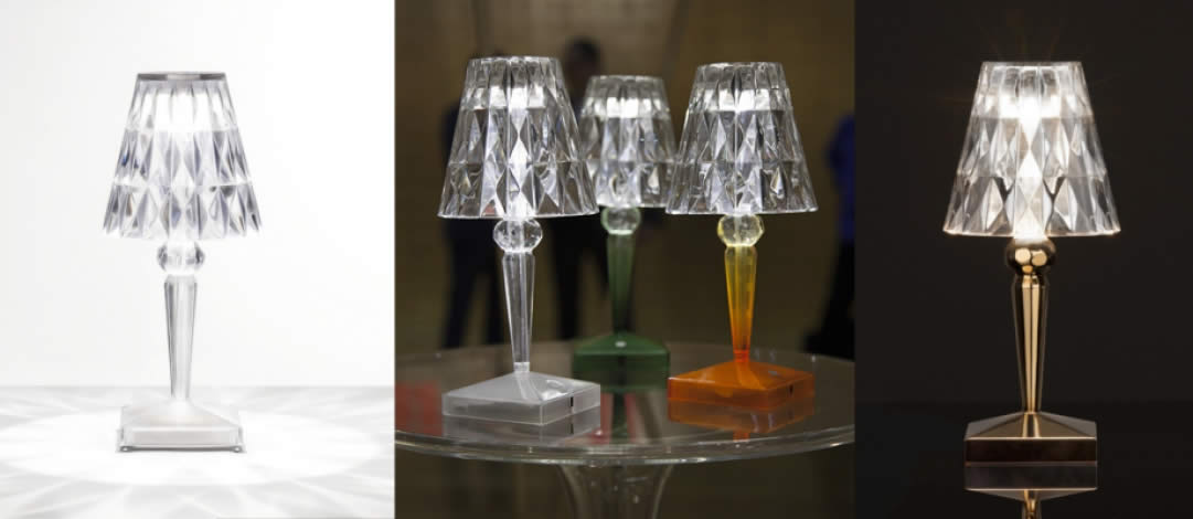 Lampe Battery Kartell Quartz Design