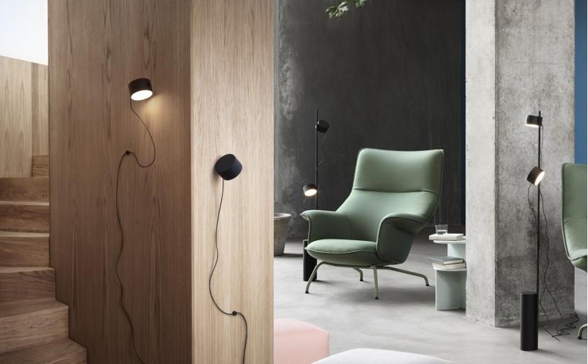 Post floor lamp et post wall lamp