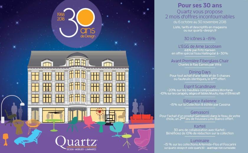 Offres exceptionnelles pour les 30 ans de Quartz